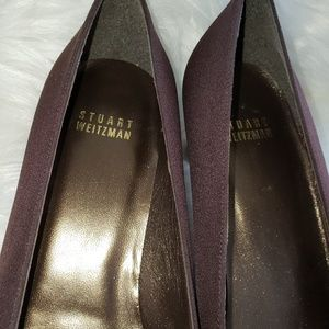 Stuart Weitzman Shoes - Stuart weitzman kitten heels 8.5 brown fabric